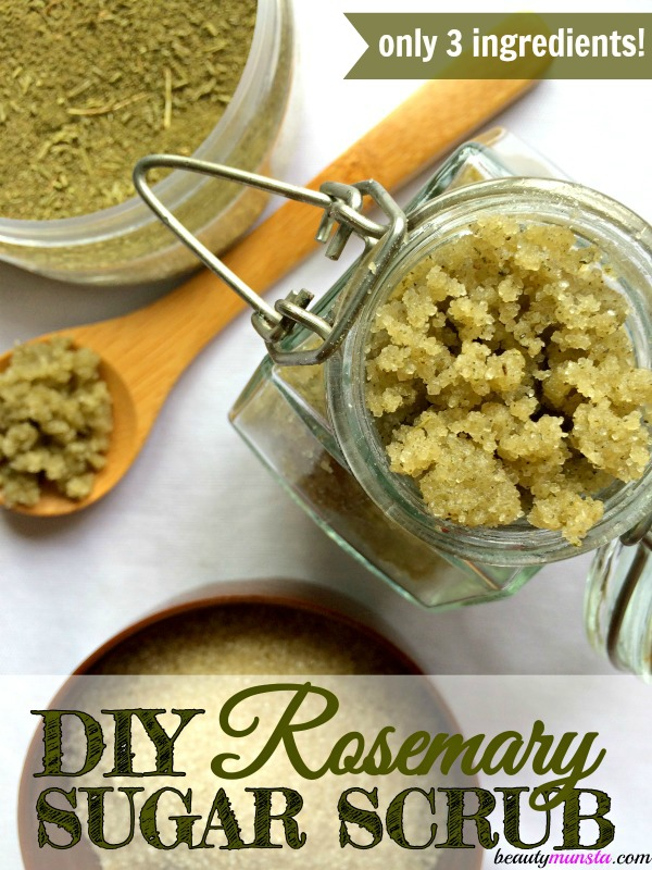 Here's my favorite DIY rosemary sugar scrub recipe! It smells so refreshing, soothes a tired body and refreshes the mind!