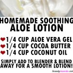 Soothing Aloe Lotion Recipe with Only 3 ingredients