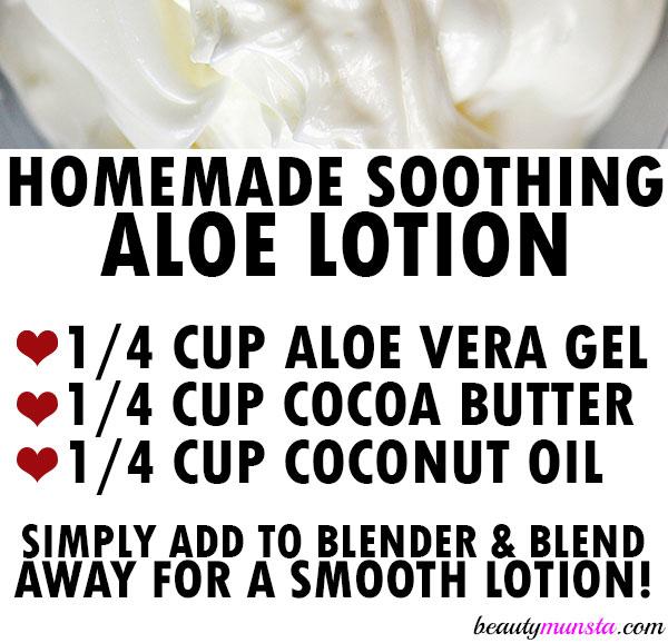 aloe lotion recipe