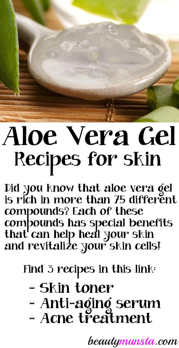 diy aloe vera gel recipes for skin