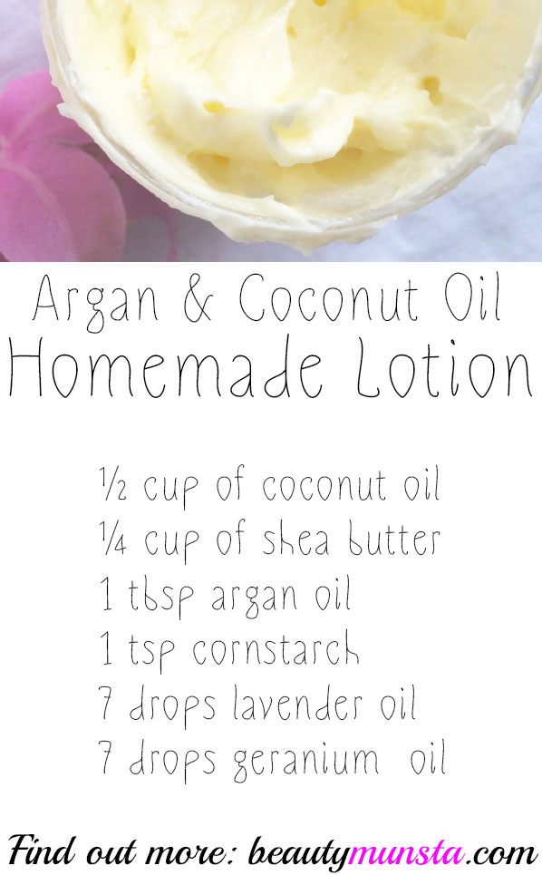 argan oil and coconut oil mix for skin