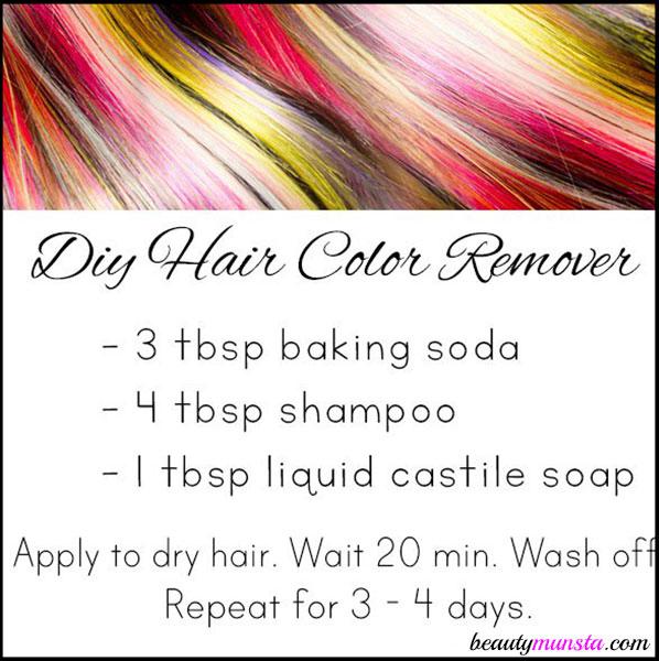 DIY Hair Color Remover With Baking Soda Beautymunsta