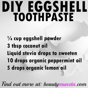 Homemade Eggshell Toothpaste for Remineralization
