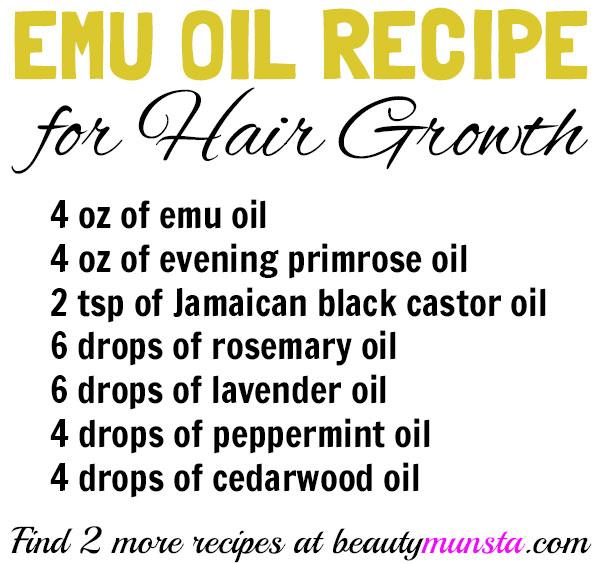 emu oil recipes for hair growth
