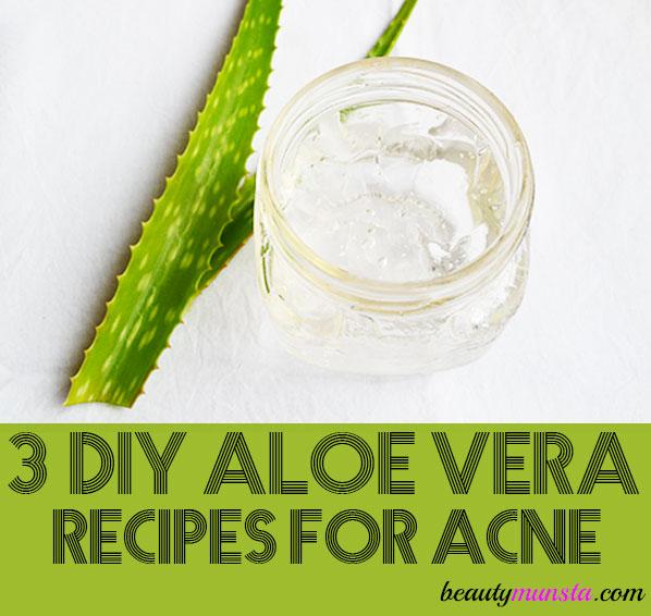 diy aloe vera gel recipes for acne