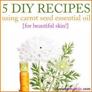 5 DIY Carrot Seed Essential Oil Recipes for Skin