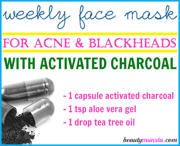 DIY activated charcoal face mask for blackheads, acne & more. Do this mask weekly!