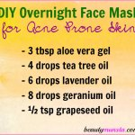 DIY Overnight Face Mask for Acne Prone Skin