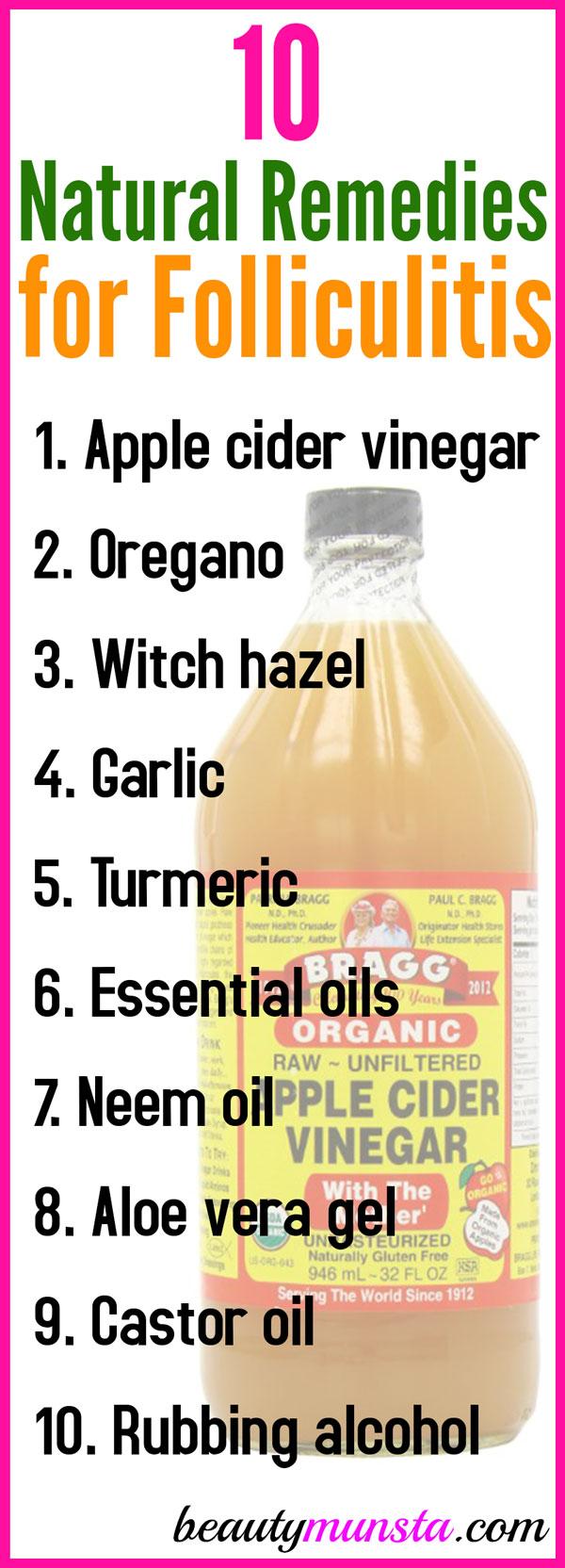 10 Natural Remedies For Folliculitis Beautymunsta