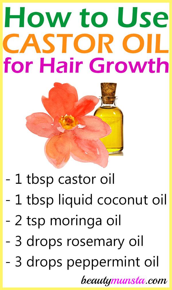 How To Use Castor Oil For Hair Growth Beautymunsta