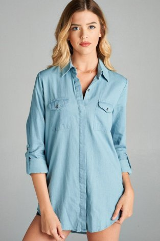 Chambray Jean Top