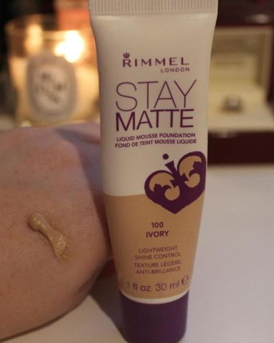 Rimmel foundation swatch