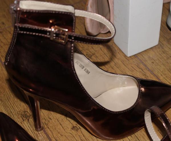 Boohoo metallic heels