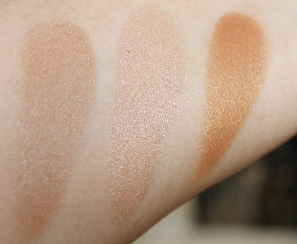makeup revolution radiance palette swatch