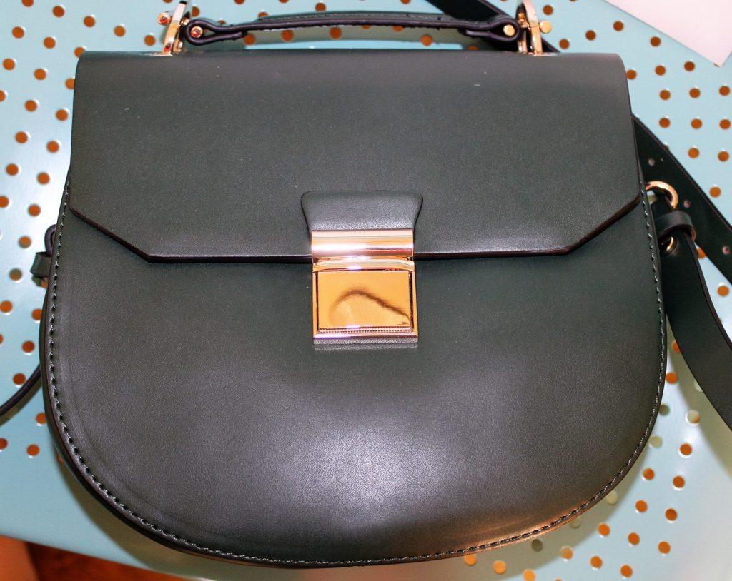 zara green bag