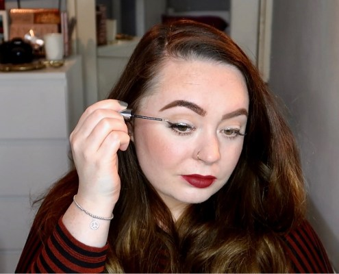 glitter winged liner tutorial