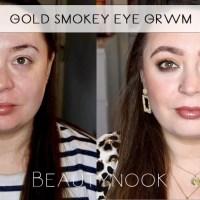 Gold Smokey Eye Makeup Tutorial GRWM