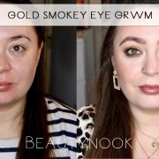 gold smokey eye makeup look