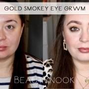 gold smokey eye makeup look