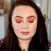 easy orange eyeshadow makeup tutorial