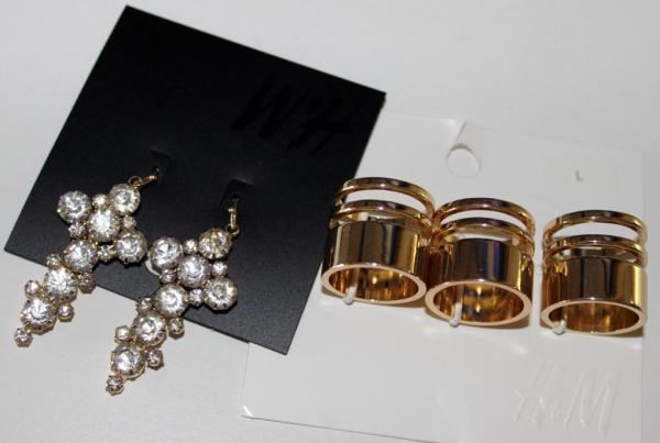 H&M earring and rings
