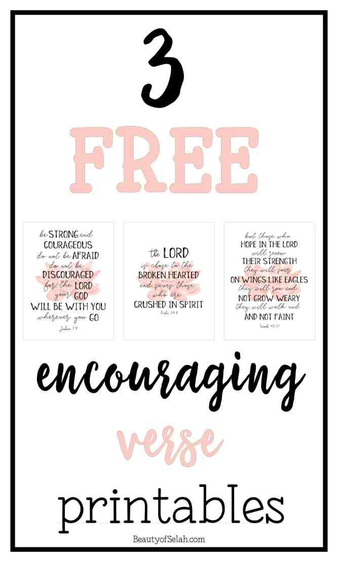 3 Encouraging Verse Printables