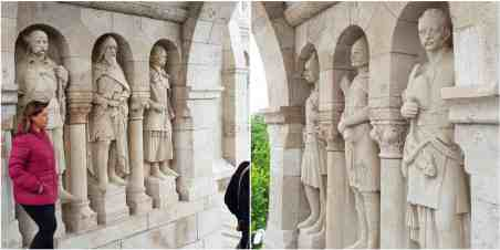 Budapest Fisherman's Bastion walkthrough of statues