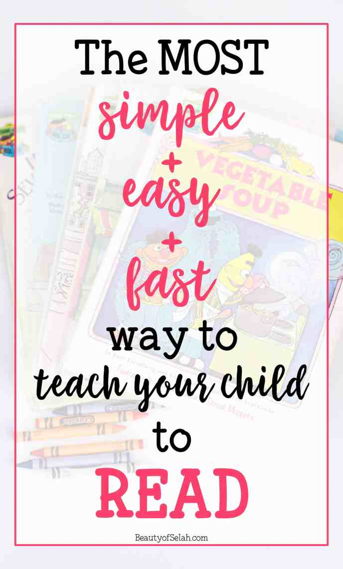 The Most simple easy fast way to teach your child to read | the only resource you'll ever need