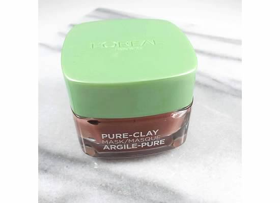 NEW L'OREAL CLAY MASK:  Exfoliate & Refine