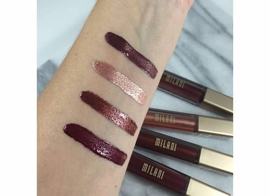 Swatches Milani Metallic Lip Cremes