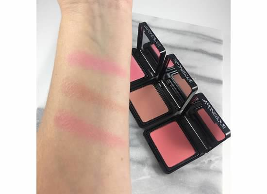 Japonesque Blush Swatches - Japonesque Blush Shade 1 - Japonesque Blush Shade 2 - Japonesque Blush Shade 3