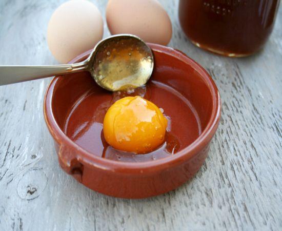 Egg yolk and honey