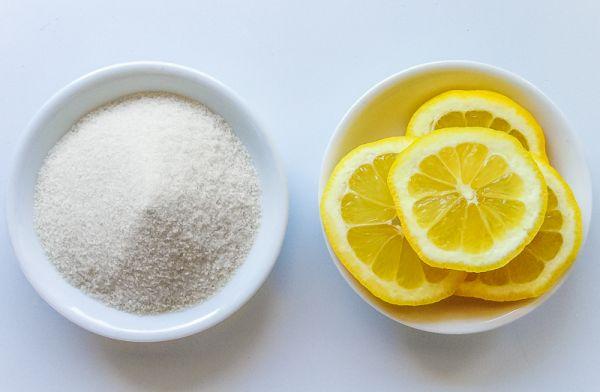 Lemon-sugar face scrub