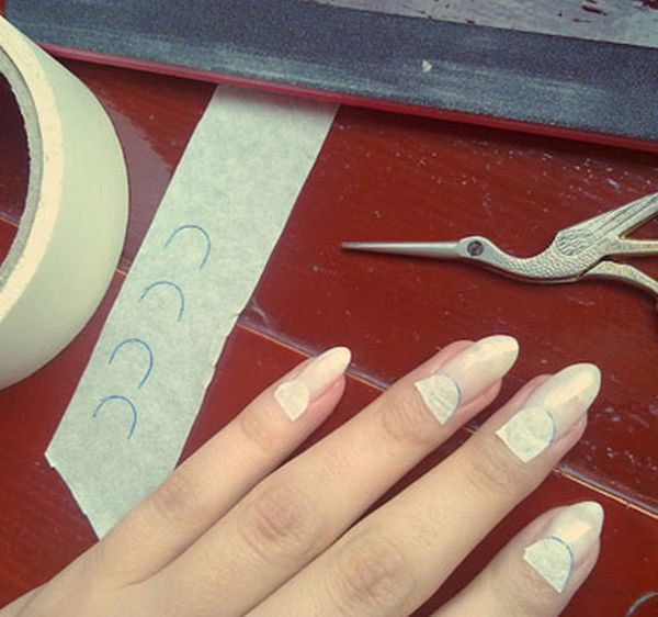 Manicure with tape