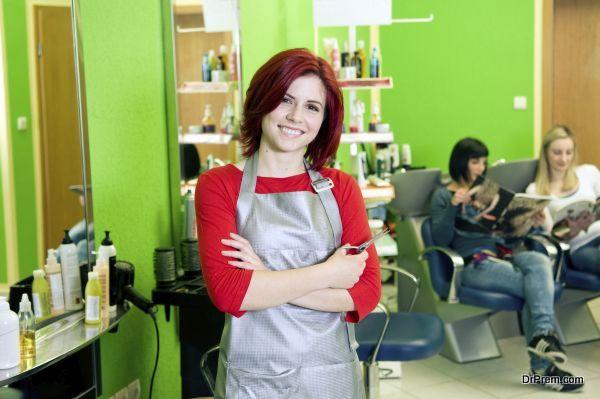 Hair salon owner or employee