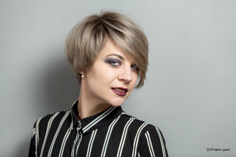 Short Edgy Stacked Bob