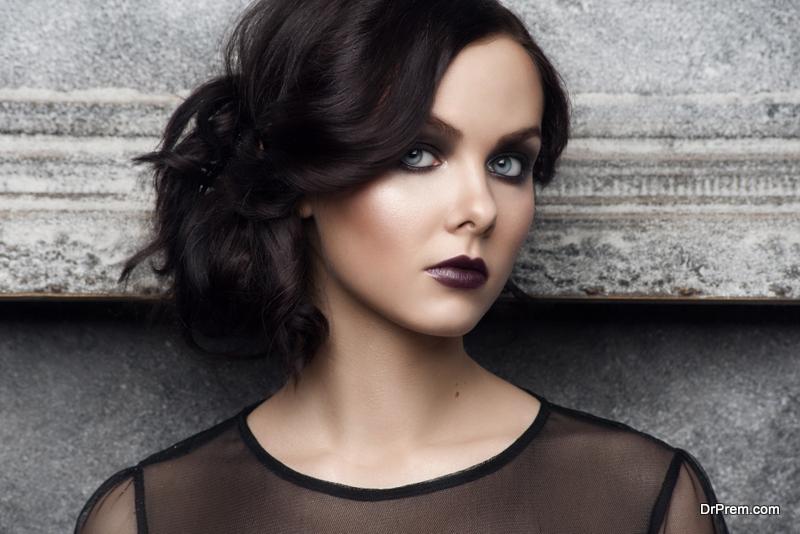 get natural makeup look with dark skin