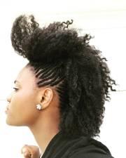 black hairstyles braids mohawk
