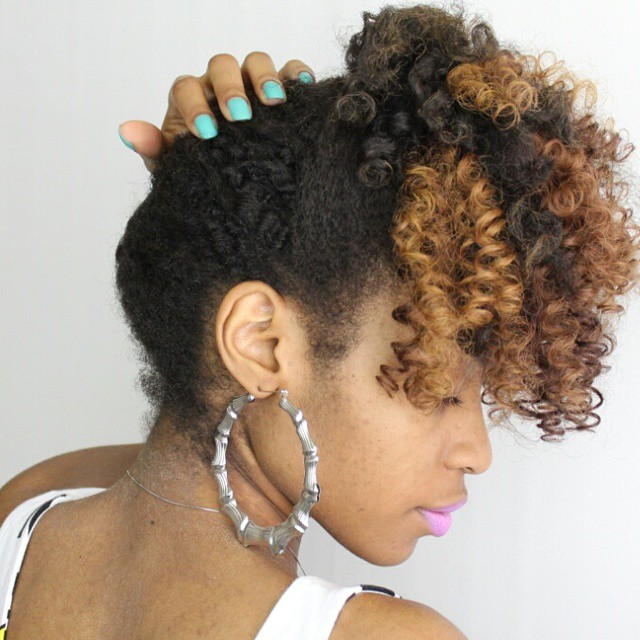 15 Fashionable Natural Updo Hairstyles For Ladies