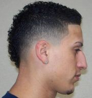 mohawk haircut 15 curly short