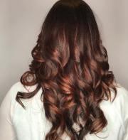 black hair auburn highlights