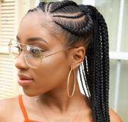 lovely ghana braids - updos