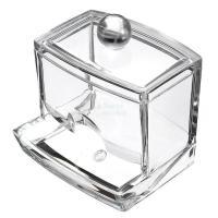 New Design Clear Acrylic Cotton Swab Q-tip Storage Holder ...
