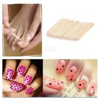100Pcs Orange Wood Nail Art Stick Cuticle Pusher Remover ...