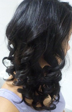 Ribbon curls from my curling iron