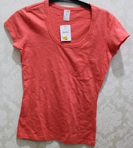 Peachy Orange T-Shirt - Cotton AUD$3