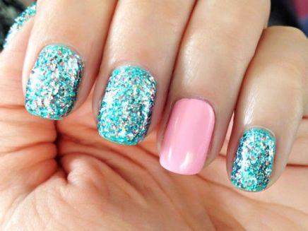 manicure-glitter
