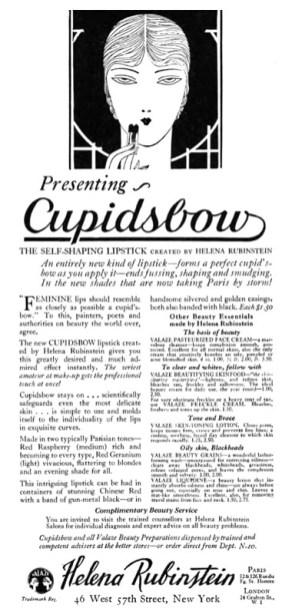 una pubblicità del 1926 di Helena Rubinstein