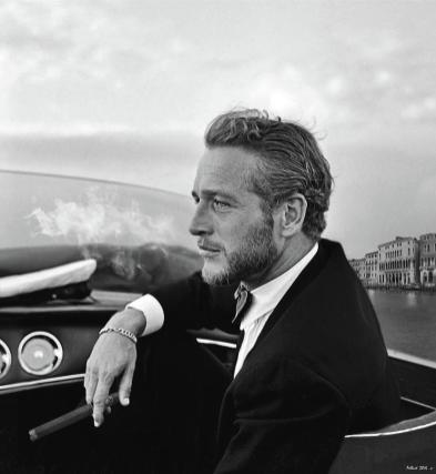 2-paul-newman-movie-star-cruising-venice-smoking-a-cuban-cigar-thomas-pollart