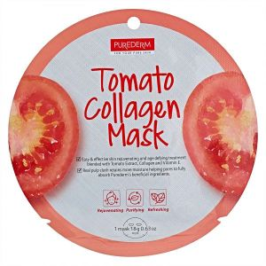 Маска томатная коллагеновая Purederm Tomato Collagen Circle Mask 18 г